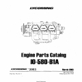 Lycoming Parts Catalog IO-580-B1A Part # PC-701-1 $19.95