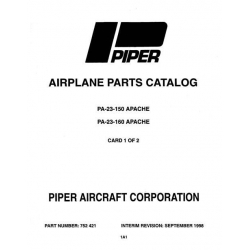 Piper Apache PA-23-150 & PA-23-160 Parts Catalog Part Number 752-421