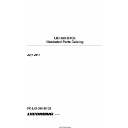 Lycoming LIO-360-B1G6 Illustrated Parts Catalog PC-LIO-360-B1G6 $29.95