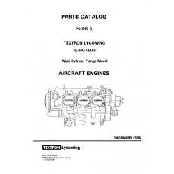 Lycoming Parts Catalog PC-615-3 IO-540-V4A5D $13.95