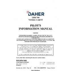 Daher TBM 700 Socata SAS  Version A and B Pilot's Operating Handbook