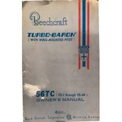 Beechcraft Model 56TC (Tg-1 through TG-68) Turbo Baron Owner's Manual PIN 96-590003-3