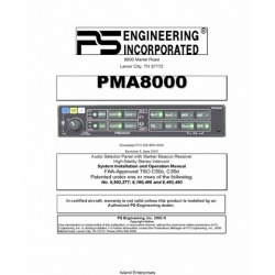 PS Engineering PMA8000 Installation and Operation Manual 2005 $9.95