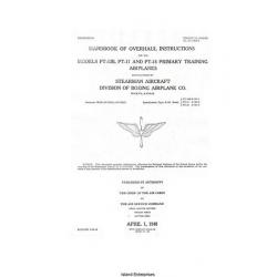 Boeing-Stearman PT-13B, PT-17 & PT-18 Primary Training Airplanes Handbook of Overhaul Instructions