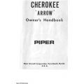 Piper Cherokee Arrow Owner's Handbook $6.95