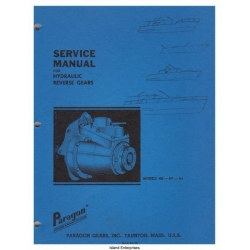 Paragon HB, HF, HJ Hydraulic Reverse Gears Service Manual & Parts List $4.95