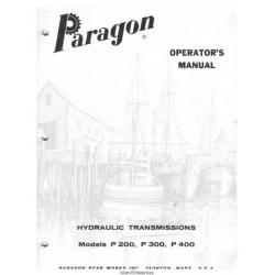 Paragon P200, P300, P400 Hydraulic Transmissions Operator's Manual $4.95