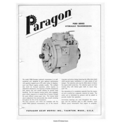Paragon P200, P300, P400 & G300 Series Hydraulic Transmissions Manual $4.95