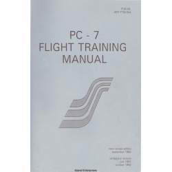 Pilatus PC-7 Flight Training Manual 1990 - 1992 $13.95