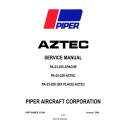 Piper Aztec/ Apache PA-23-235 -250 and 250 Six Place Service Manual v2009 Part # 753-564 $19.95