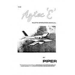 "Piper Aztec ""E"" PA-23 Pilot's Operating Manual $13.95"