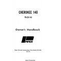Piper Cherokee 140 PA-28-140 Owner's Manual 1972 - 1977 $6.95