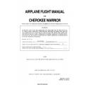 Piper Cherokee Warrior PA-28-151 Airplane Flight Manual 1973 - 1975 $9.95