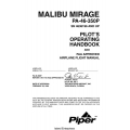 Piper Malibu Mirage PA-46-350P Pilot's Operating Handbook 1999 $13.95