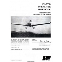 Piper PA-36-375 Brave 375 Pilot's Operating Handbook 1977 - 1978 $13.95 Part # 761-674