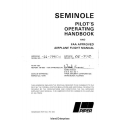 Piper Seminole PA-44-180 Pilot's Operating Handbook 1978 $13.95 Part # 761-662