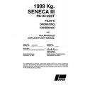 Piper Seneca III 1999 Kg. PA-34-220T Pilot's Operating Handbook 1981 $19.95