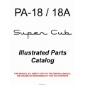 Piper PA-18 Super Cub Illustrated Parts Catalog 1950 - 1976  $12.95