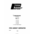 Piper PA24-180-250-260-400-260 Turbo Charged Comanche Service Manual Part # 753-516 $13.95