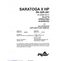 Piper Saratoga II HP PA-32R-301 Pilot's Operating Handbook SN 3246088 and Up 1997 $13.95