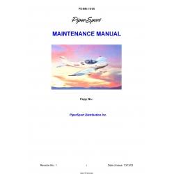 Piper Sport Maintenance Manual 2003