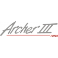 """Piper Archer III Decal-Sticker 2 3/4"""" high by 10.5"""" wide!"""