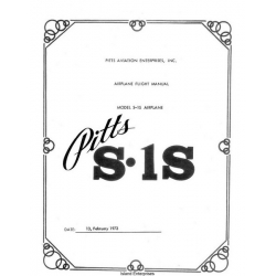Pitts S.1S Airplane Flight Manual/POH 1973 $4.95