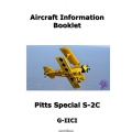 Pitts Special S-2C Aircraft Information Booklet $4.95