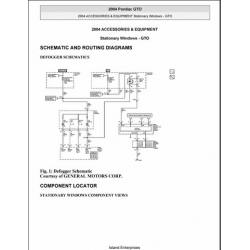 Pontiac GTO Accessories & Equipment Stationary Windows Service and Repair Manual 2004 $9.95