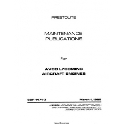 Avco Lycoming Prestolite SSP-1471-3 Starter Alternator Maintenance Manual 1985 $13.95