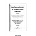 Questions and Answers for Automobile Students and Mechanics $4.95