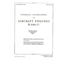 Lycoming R-680-17 Engine 1944 Overhaul Instructions $12.95