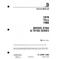 Cessna R182 & TR182 Series 1978 thru 1986 Service Manual $19.95