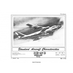 Boeing RB-47B Stratojet Standard Aircraft Characteristics 1952 $2.95