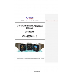 Rogerson Kratos EFIS-520NS Weather Only Display System Installation Manual $13.95