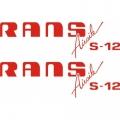 Rans S12 Airaile Aircraft Logo,Decals!