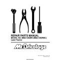 Rasentraktor Mr. Bricolage MBA1392BR (MBA1392RBC) Lawn Tractor Repair Parts Manual 2002