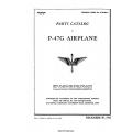 Republic P-47G Airplane Parts Catalog 1942