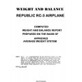 Republic RC-3 Airplane Weight and Balance 1947