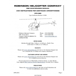 Robinson R22 Maintenance Manual RTR 060 2012 $9.95