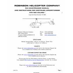 Robinson R44 Maintenance Manual RTR 460 June 2014 $ 9.95