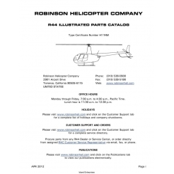 Robinson Helicopter R44 Illustrated Parts Catalog 2012 $19.95