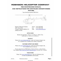 Robinson R66 Maintenance Manual RTR 660 2012 $ 9.95