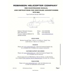 Robinson R66 Maintenance Manual RTR 660 2012 $ 6.95