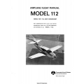 Rockwell Commander 112/A Airplane Flight Manual $13.95