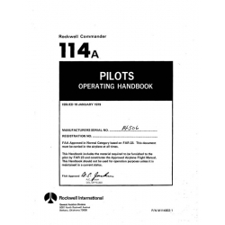 Rockwell Commander 114A Pilots Operating Handbook 1979 $13.95