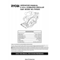 Ryobi 5-1/2 in Cordless Circular Saw Model No. RY6200 Operator's Manual $4.95