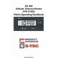 S-Tec SA-200 Altitude Selector/Alerter Pilot's Operating Handbook 2003 $2.95