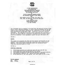 S-Tec 60 Pitch Stabilization System Pilot's Operating Handbook PIN 8952-1 1983