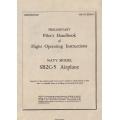 Curtiss SB2C-5 Helldiver Navy Model Airplane Preliminary Pilot's Handbook of Flight Operating Instructions $4.95